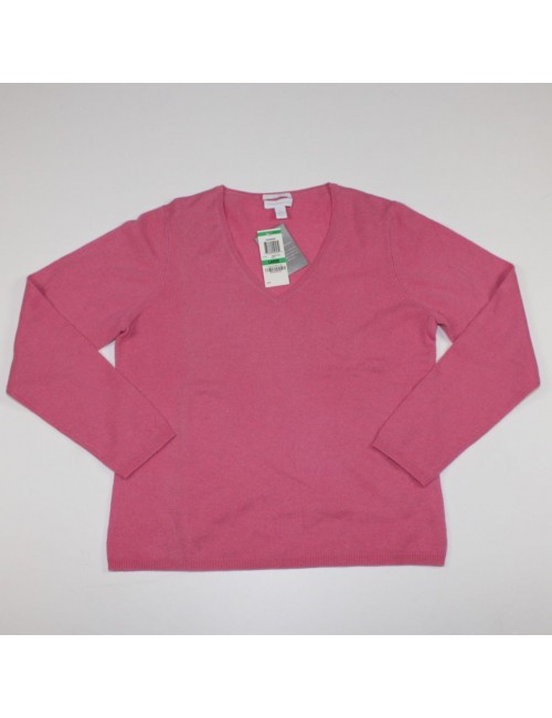 CHARTER CLUB 2-PLY womens 100% Cashmere pink sweater!