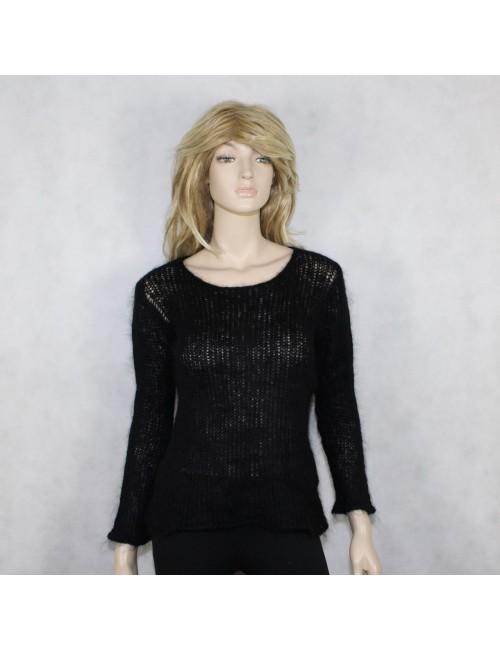 EILEEN FISHER womens black knit sweater (M)