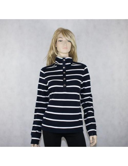 LAUREN RALPH LAUREN Navy-White Long Sleeve Sweater!