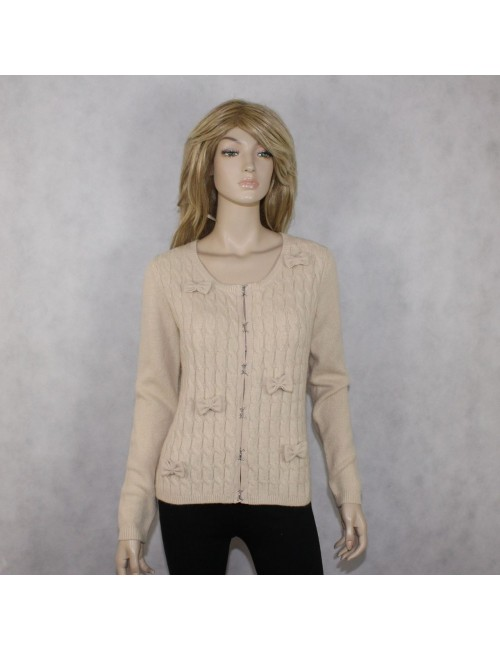 DE.CORP womens beige cardigan sweater $89 NWT! (L)