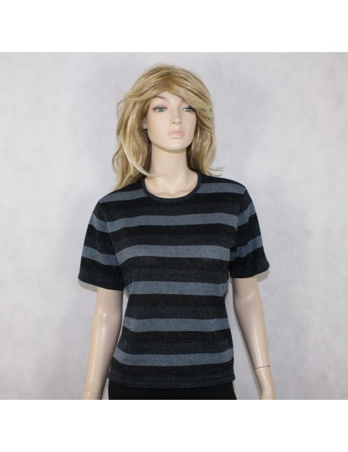 KASPER womens blue striped sweater top $299 NWT! (12)