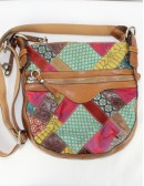 FOSSIL multi color crossbody bag