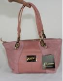 B.MAKOWSKY pink suede leather handbag