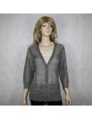 J.CREW womens gray cardigan sweater (size L)