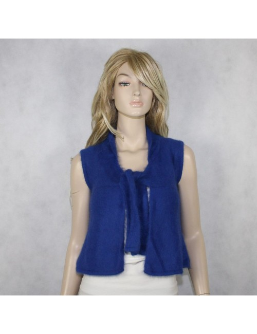 FREE PEOPLE Blue Angora Hair Vest (XS) NWT