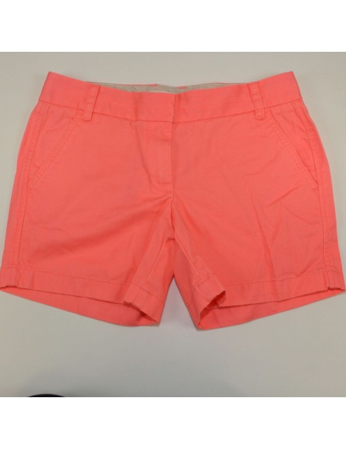 J.Crew Neon Peach Cotton Shorts Size 4