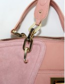 B.MAKOWSKY pink suede leather handbag