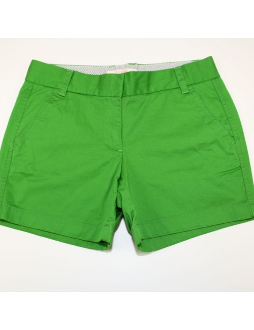 J.Crew Green Cotton Shorts Size 4