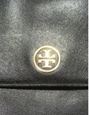 TORY BURCH flap crossbody handbag with logo