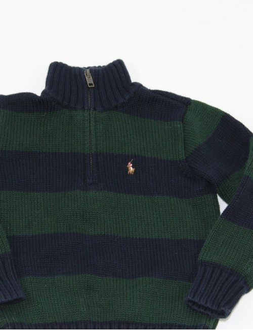 RALPH LAUREN baby boy 1/4 zip sweater