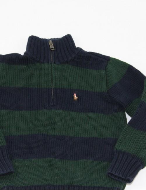 RALPH LAUREN baby boy 1/4 zip sweater