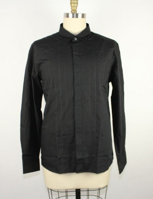 KENNETH COLE REACTION mens off-duty button front striped shirt (sizle L)