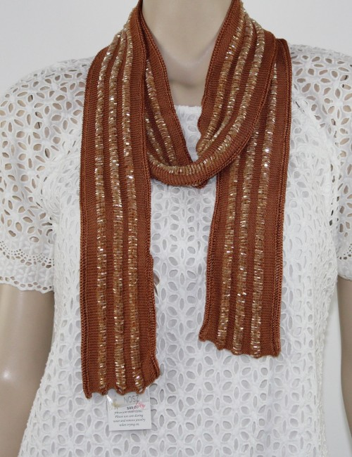 CHICOS sparkle knit womens SCARVES