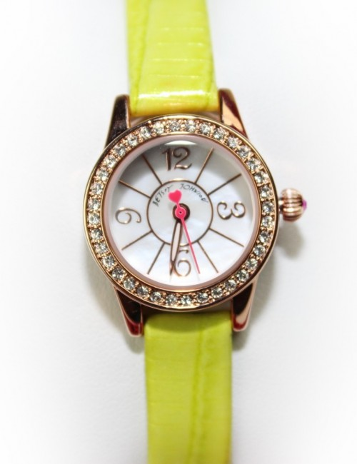 BETSEY JOHNSON Women BJ00255-04 Lime Green Textured Leather Strap